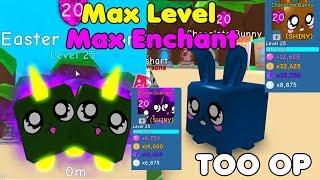 I Made Max Level & Enchant Shiny Chocolate Bunny & Easter Dualcorn! OP! - Bubble Gum Simulator