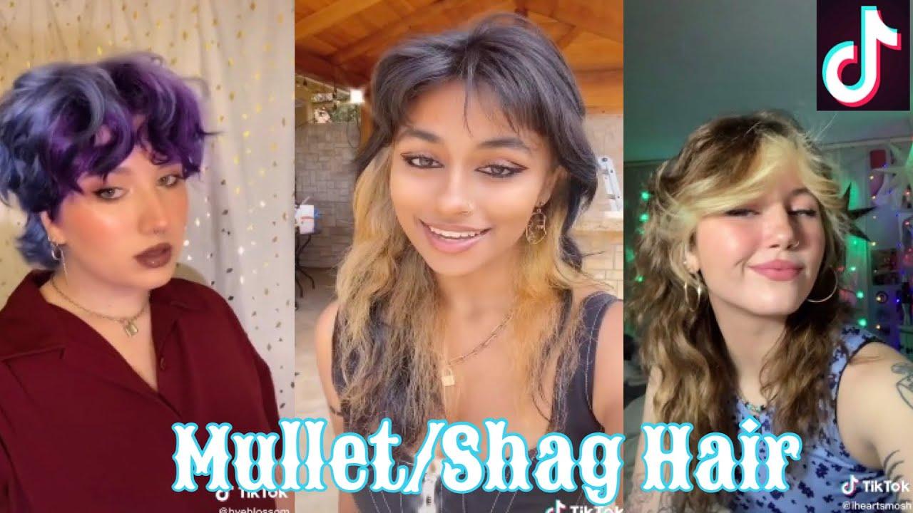 Best Mullet/Shag Hair Transformation    Tiktok Compilation