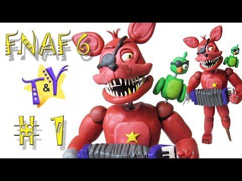 Как слепить Рокстар Фокси ФНАФ 6 из пластилина Туториал 1 Rockstar Foxy FNAF 6 Tutorial 1