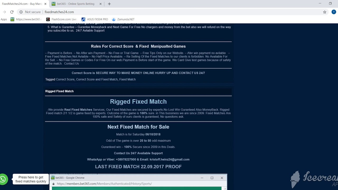 FixedMatches24 com - Buy Manipulated Fixed Matches, Fixed Match 2/1