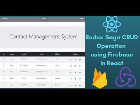 Implement CRUD Feature with Firebase and Redux-Saga in React JS | Firebase Redux-Saga