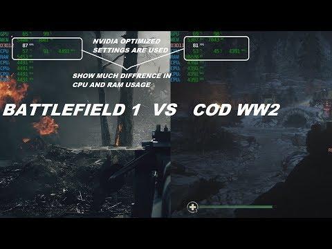 BATTLEFIELD 1 VS CALL OF DUTY WW2 BENCHMARK GTX 1080