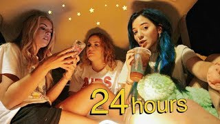 24 HOURS IN MY CAR overnight challenge ~we made a bedroom~