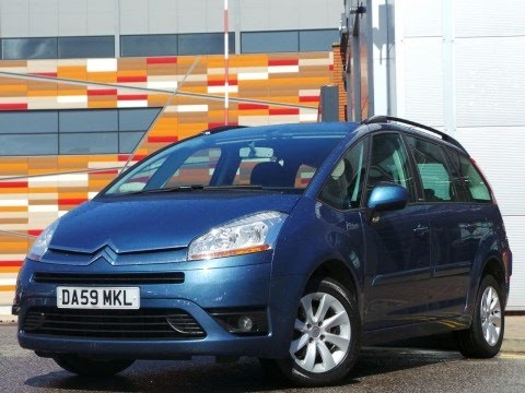 2010 59 plate citroen c4 grand picasso 1 6 hdi 16v vtr plus 5dr 7 seats in blue youtube. Black Bedroom Furniture Sets. Home Design Ideas