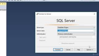Microsoft SQL Server 2017 Sunucuya Bağlanma