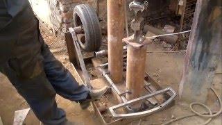Испытание самодельного рессорно молота.ПРОСТО БОМБА!!!!!! /power hammer