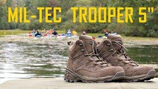 Честный обзор на ботинки MIL-TEC TROOPER 5  (SQUAD 5) коричневые\серые
