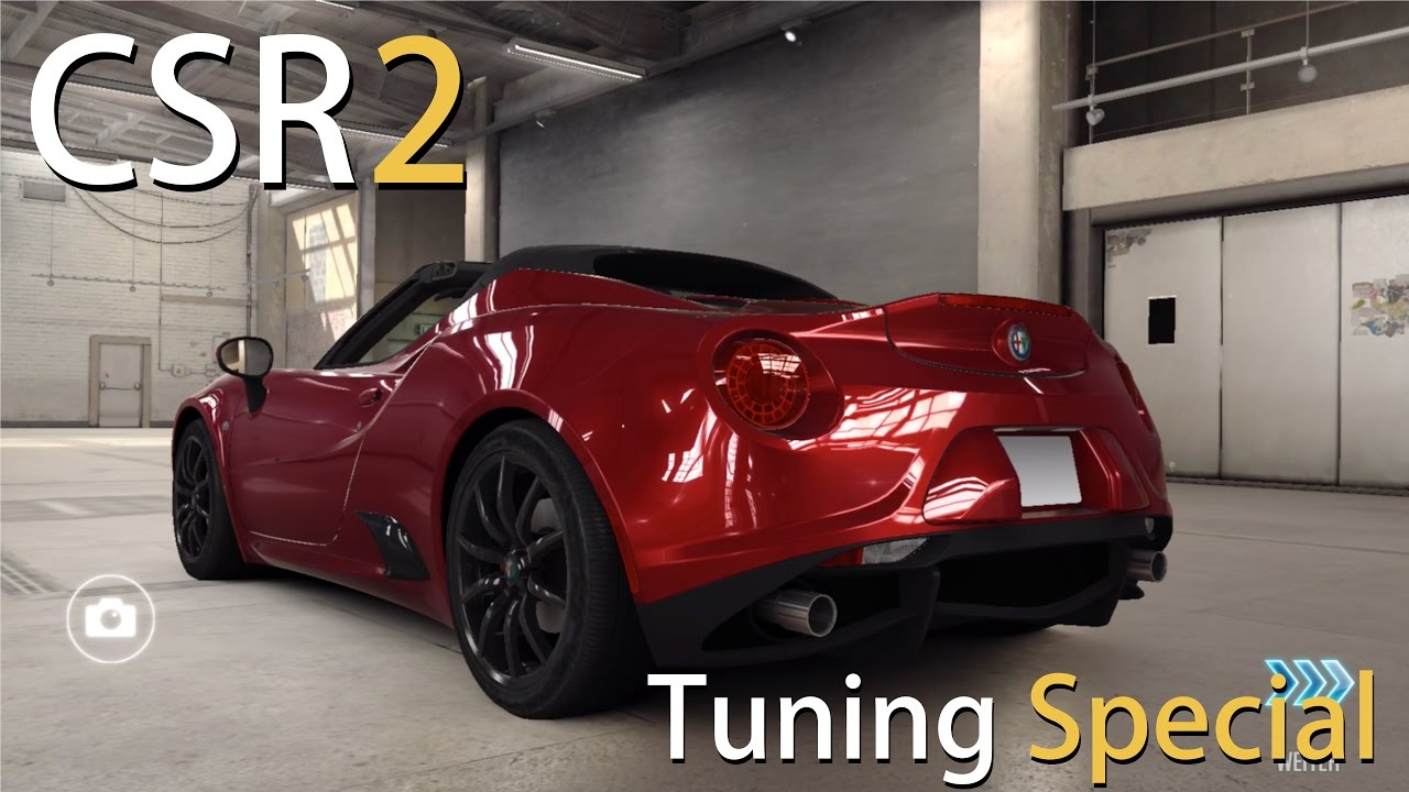alfa romeo 4c spyder tuning let 39 s play csr racing 2 ios. Black Bedroom Furniture Sets. Home Design Ideas