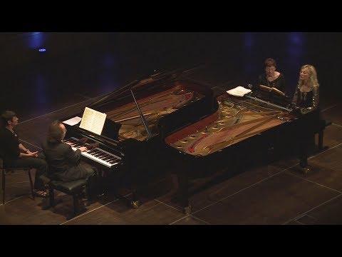 Cyprien Katsaris, Hélène Mercier - Brahms: Sonata for two Pianos, Op. 34b, 2nd mov.