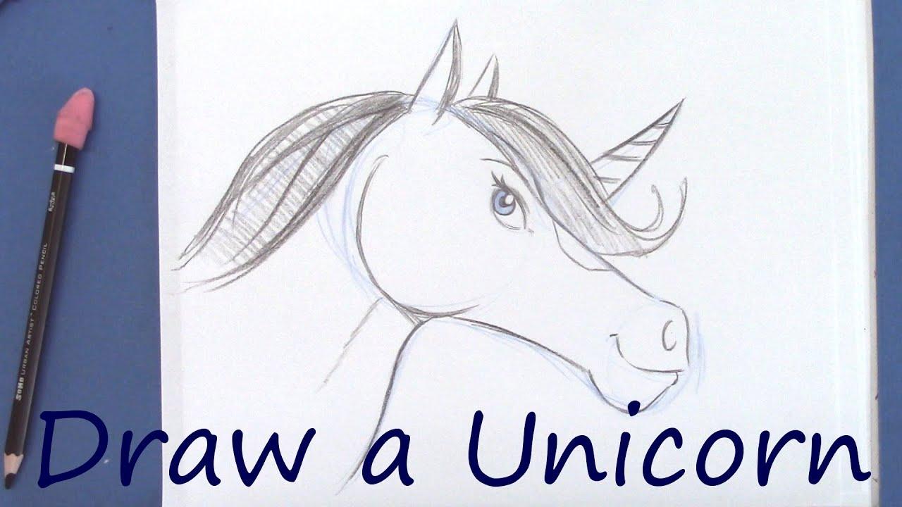 How to draw draw a unicorn youtube