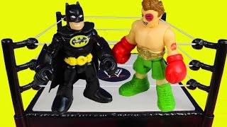Imaginext First Annual Battle Wars Spider-man Batman Hulk Superman Joker Bane Riddler Marvel