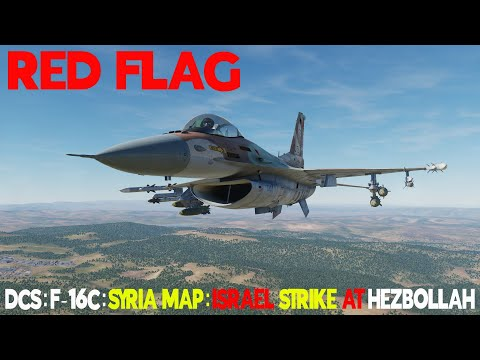 DCS World Syria Map Israeli F-16C Mission Against Hezbollah