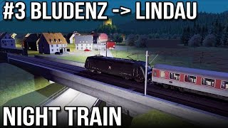 Night Train Through the Valleys - Route 3 of 10 Three Countries (Train Simulator 2014)