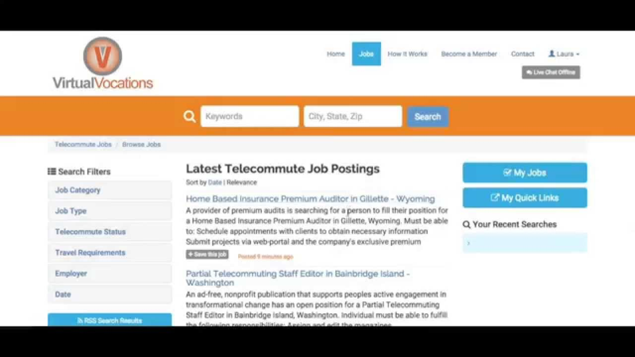 How To Create & Manage Telecommute Job Email Alerts on Virtual ...