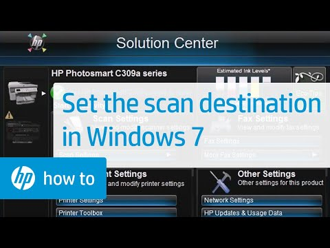 Setting the Scan Destination for Your HP Printer - Windows 7 | HP
