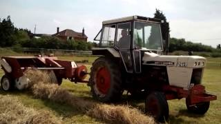 david brown 1212 hydrashift and ih b47 baler