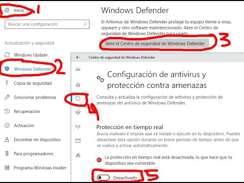 como desactivar antivirus windows 10