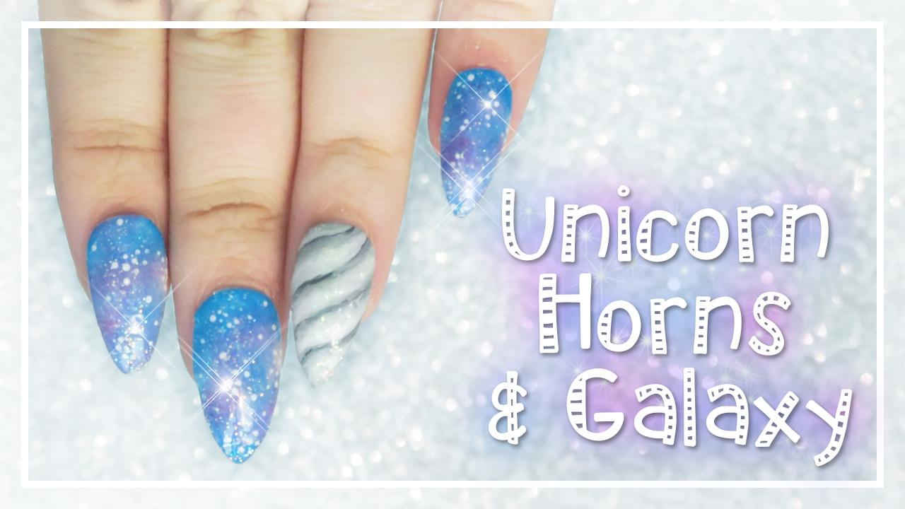 how to make galaxy nail art