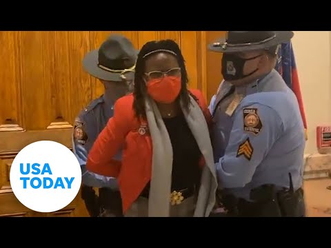 GA lawmaker arrested protesting voting bill | USA TODAY