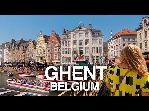 [4K] GHENT, BELGIUM WALKING TOUR - Historic Centre