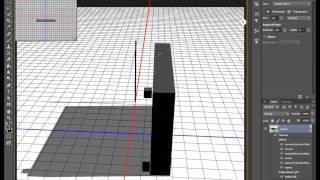 3d в фотошопе - сцена из нескольких объектов