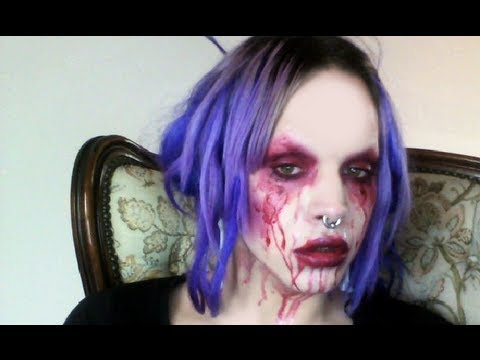 Last Minute Halloween Makeup + DIY Fake Blood! - YouTube