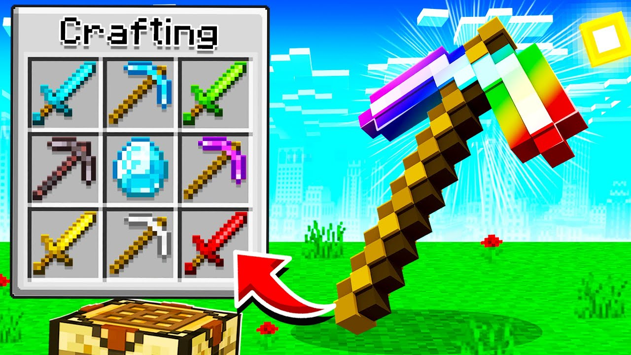 CRAFTING THE PERFECT PICKAXE IN MINECRAFT!