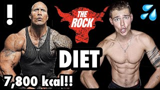 I TRAINED and ATE like Dwayne 'The Rock' Johnson! Insane Diet and Workout Challenge!