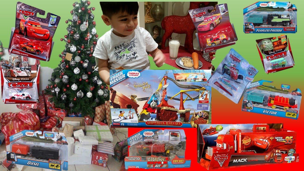 Christmas Morning 2015 Present Opening Toys Thomas
