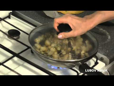 Жареные Польские грибы с луком - Рецепт
