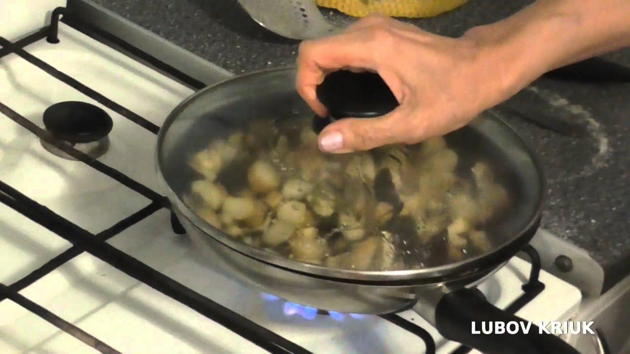 Жареные Польские грибы с луком - Рецепт - YouTube