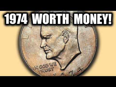 TONS OF 1974 EISENHOWER DOLLAR COINS WORTH MONEY! IKE DOLLAR ERROR COINS