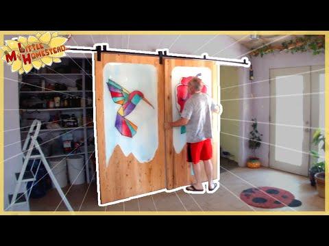 Pantry Barn Door Epoxy Art Complete, Summer Pool & Aquaponics Harvest  | Weekly Peek Ep235
