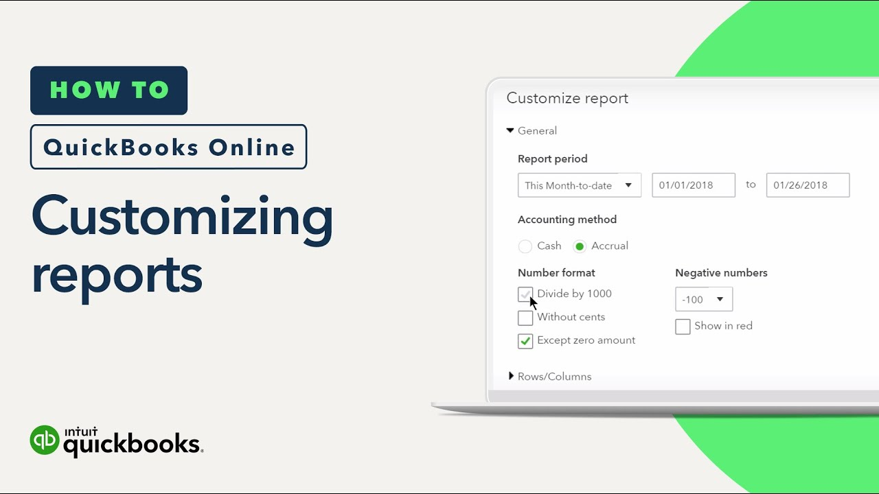 How To Customize Reports Basics Sorting Date Ranges QuickBooks - Quickbooks invoice report by date
