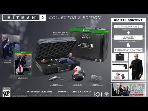 Hitman 2 Collector S Edition Unboxing Youtube