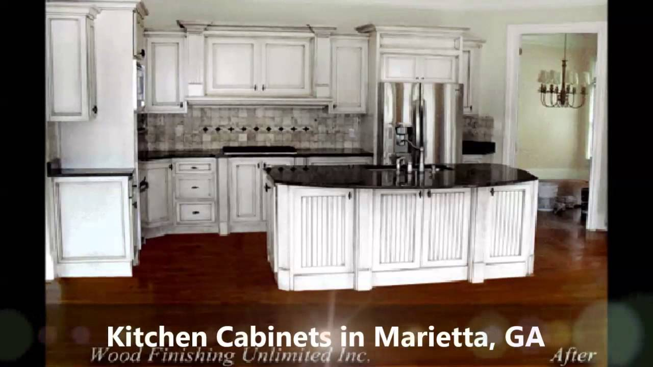 kitchen cabinets marietta ga, wood finishing unlimited - youtube