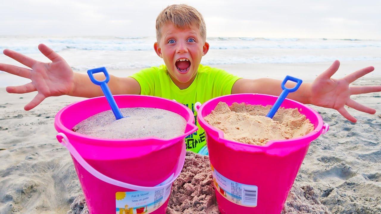 DIY Edible Sand vs Real Sand Prank!!