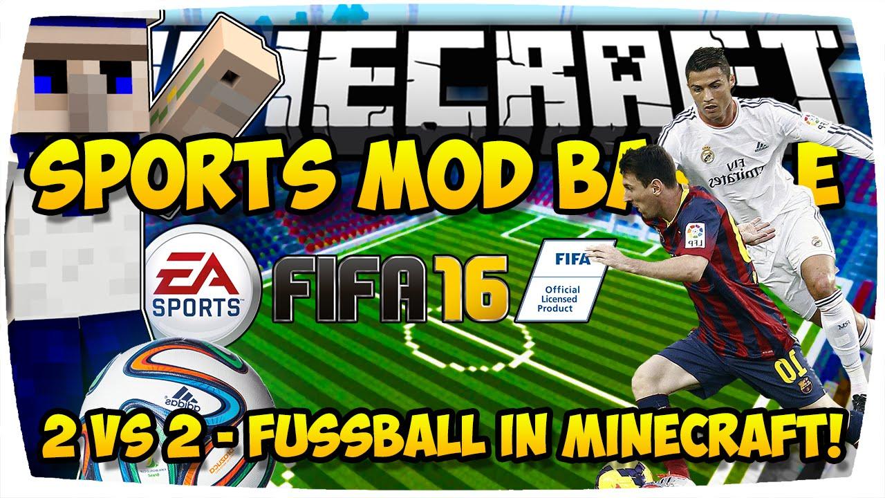 MINECRAFT FUSSBALL MOD BATTLE CHALLENGE IN MINECRAFT LUSTIG - Minecraft fubball spielen deutsch