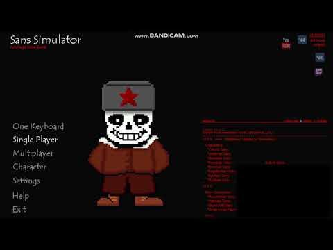 Sans simulator play as sans 1 player | Sans simulator  2019-04-29