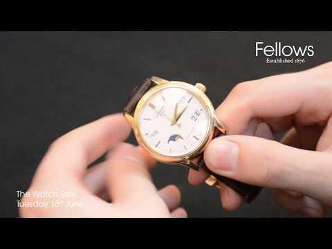 A Glashütte 18ct Rose Gold Senator Calendar Moonphase Watch