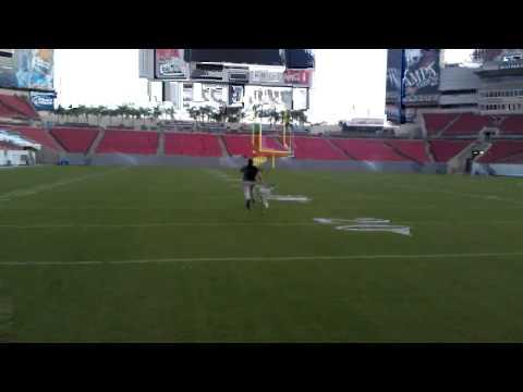 James Harris Running at Raymond James Stadium in Tampa, Florida