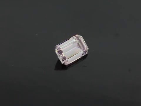 Barely Pink Emerald Cut Moissanite