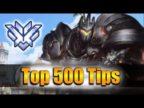 How GRANDMASTER Players DESTROY with Reinhardt - Overwatch Top 500 PRO Tricks