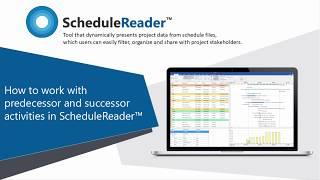 How to work with successors and predecessors activities in ScheduleReader