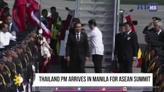 Thailand PM arrives in Manila for ASEAN Summit