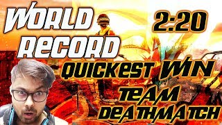 PUBG MOBILE | WORLD RECORD | QUICKEST WIN | TEAM DEATHMATCH