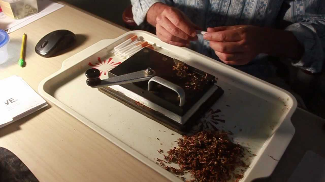 Rolling A Joint With A Cigarette Machine Youtube