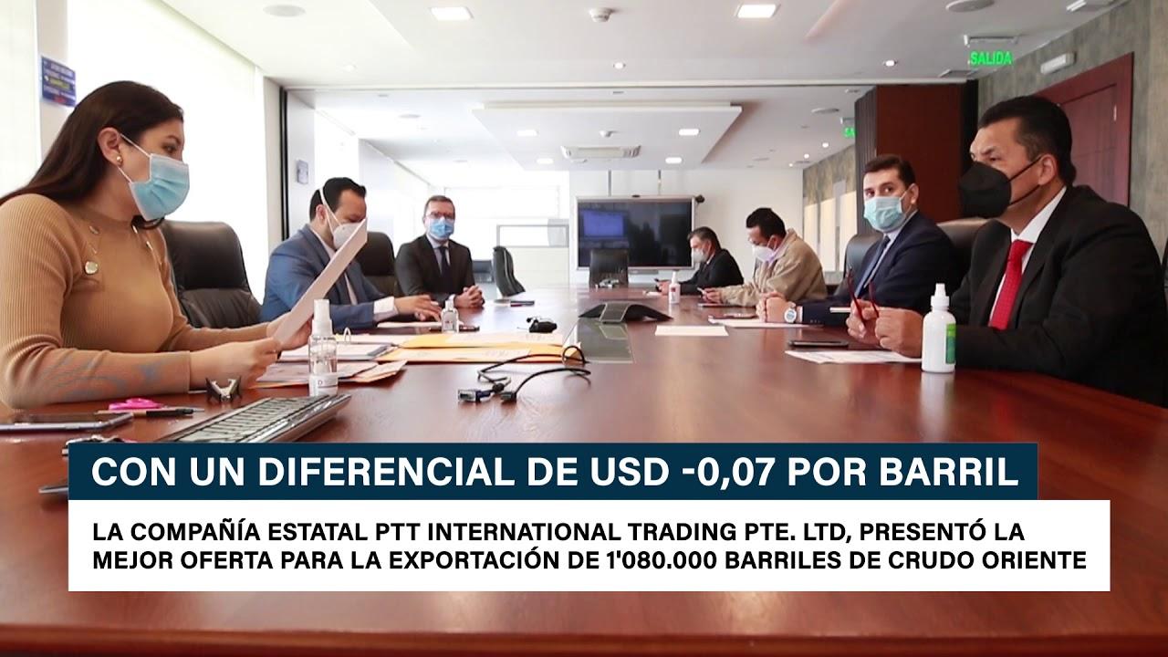 Petroecuador adjudicó la venta spot de crudo Oriente con un diferencial de USD – 0,07 por barril
