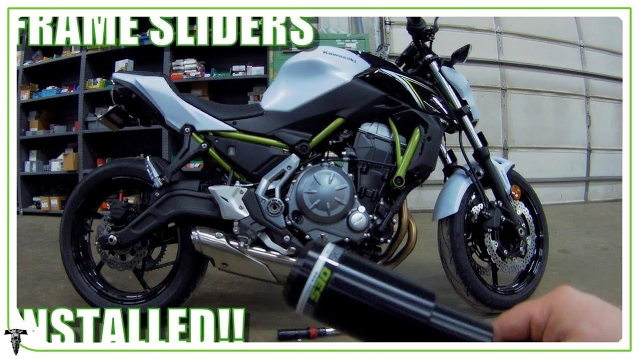 2017 Kawasaki Z650 | Frame slider install!!