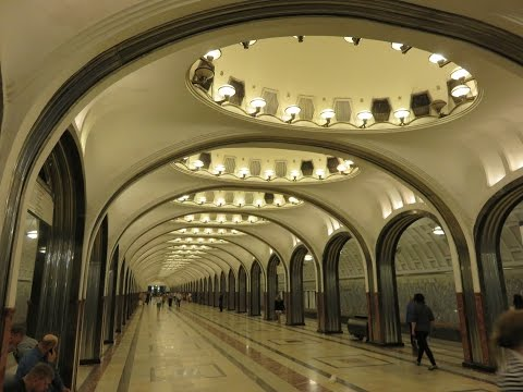 Ten Beautiful metro stations (Subways ) of Moscow, Russia